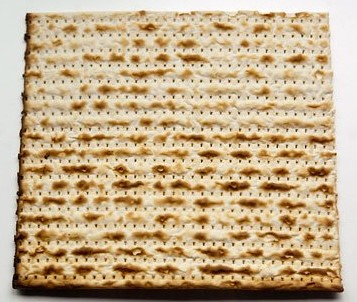 eating matzo in Israel during Passover in the early springtime