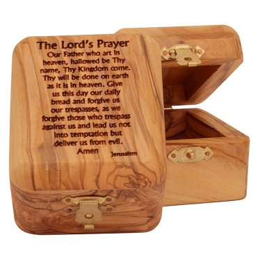 Handmade olive wood products with Christian themes from Bethlehem