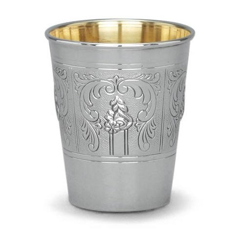 Classic sterling silver Judaica such as this kiddush wine cup