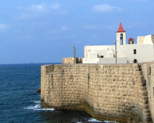 The crusader castle of Akko - ancient Acre
