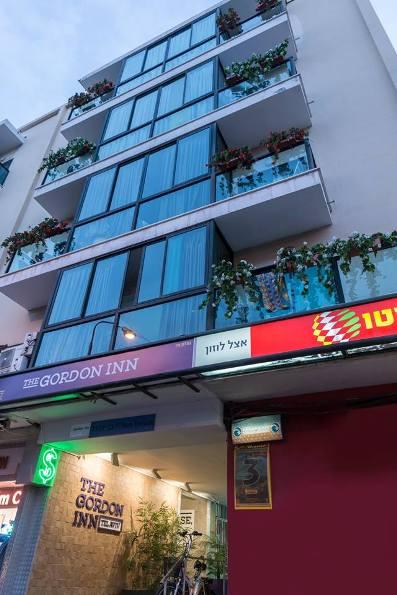 Gordon Inn Hotel exterior on Ben Yehuda Street in Tel Aviv