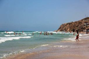 Apollonia Beach north of Herzliya is of the most beautiful beaches in Israel