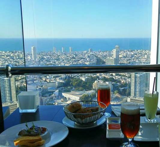 Tel Aviv restaurant view