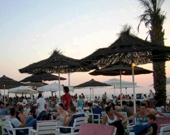 lounging at Shalvata bar at the Tel Aviv Port