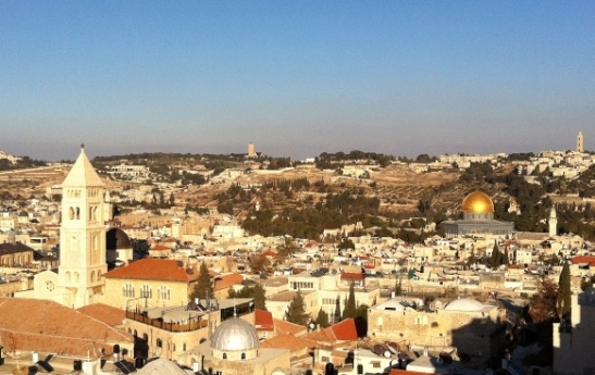 Vista of Lovely Jerusalem and the Temple Mount