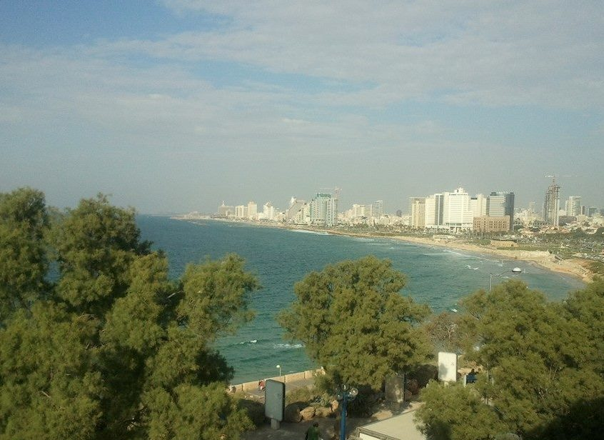 view of Tel Aviv from the hill of Jaffa