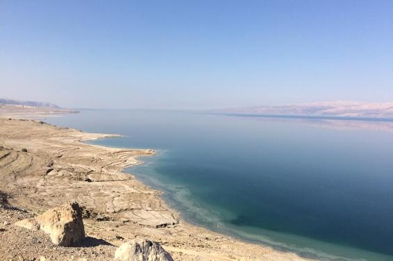 the lowest place on earth, the Dead Sea in Israel