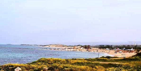 Beaches lining the Israel Mediterranean coastline