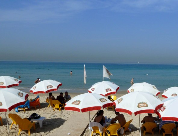 beautiful Mandarin Beach (Chof Hatzuk North) in Tel Aviv