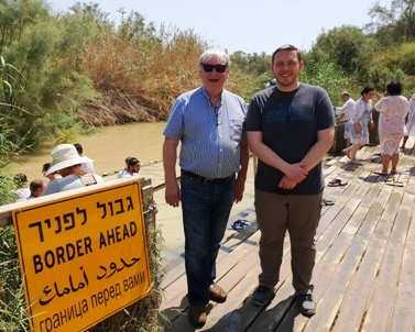 Donald and Mark McLeod on a private Go-TelAviv Tour at Qasr El Yahud baptismal site in 2018