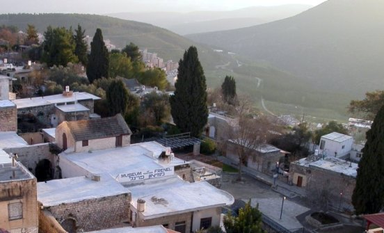 view from the artist's village in Safed (Tsfat) in the Galilee in northern Israel