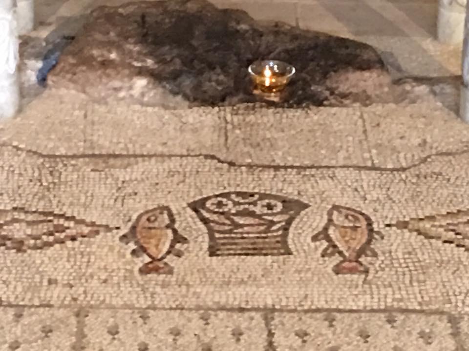 Fish and Loaves Mosaic at Tabgha