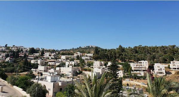 Town of Abu Ghosh nestled in the Judean Hills near Jerusalem