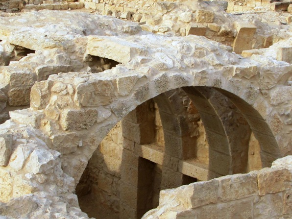 Roman arches in Ein Avdat in the Negev Desert Israel