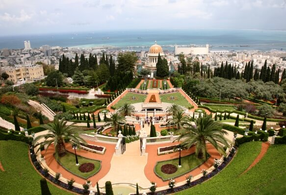 Bahai Gardens and Golden Domed Shrine Haifa Vista