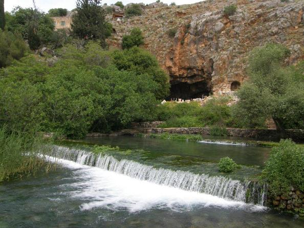 Banias in the Golan Heights in the far north of Israel