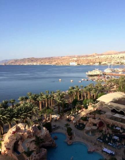beautiful view of eilat from our dan hotel room