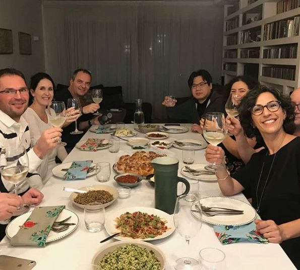 another fun Betzavta home-cooked dinner between tourists and Israelis