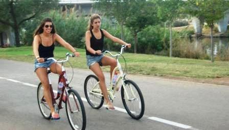 bicycles and bicycling near hayarkon river in the park Tel Aviv