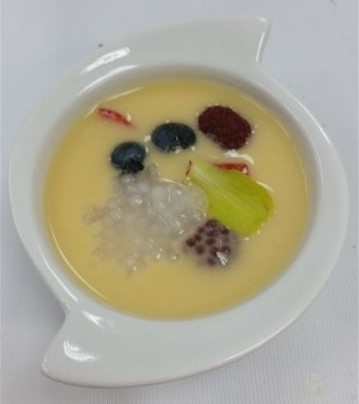 Exotic Fruit Soup at Blue Sky kosher dairy restaurants in Tel Aviv