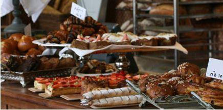 freshly baked burekas and pastries at Dalal restaurant in Neve Tzedek