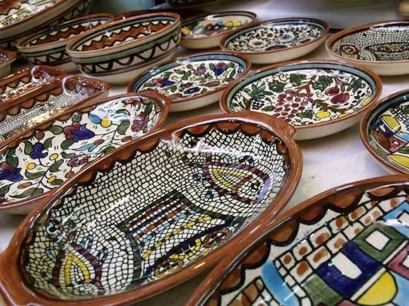 Israel Souvenirs traditional armenian ceramic plates