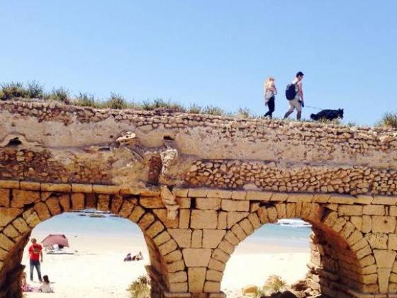Caesarea Aqueduct Beach in Israel