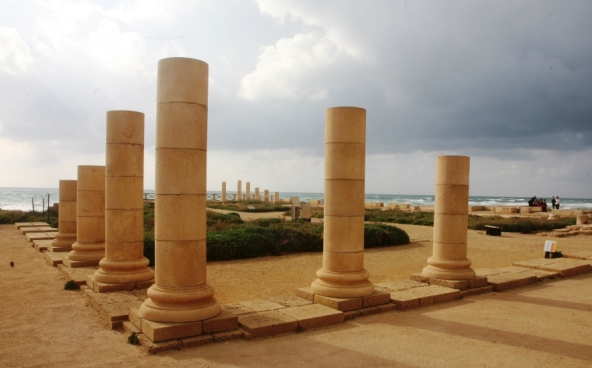 Herods Palace remains at Caesarea Israel