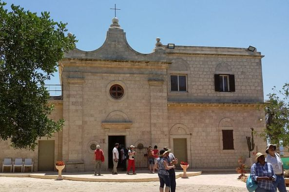 Carmelite monastery Muchraka on Mount Carmel dedicated to Elijah the Prophet