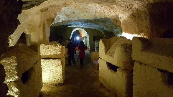 ancient Jewish catacombs in Beit Shearim