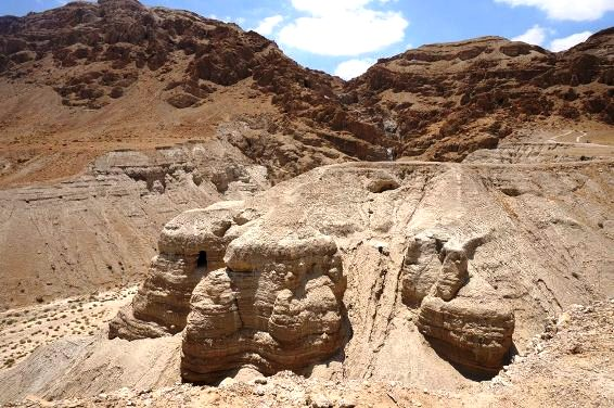 Caves of Qumran near the Dead Sea Israel