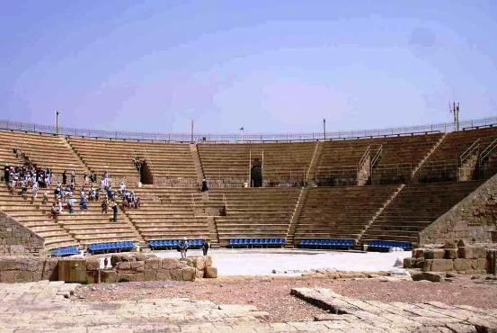 Caesarea amphitheater, built by the Romans and still in use today
