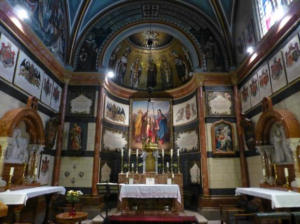 the chapel at the Austrian Hospice in the Old City of Jerusalem