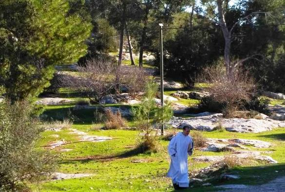 Grounds of the church at Beit Jamal Christian sites in Israel