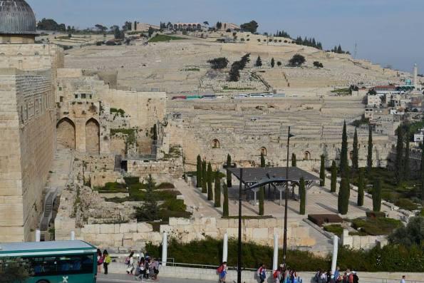 Davidson Center and Mount of Olives in Jerusalem