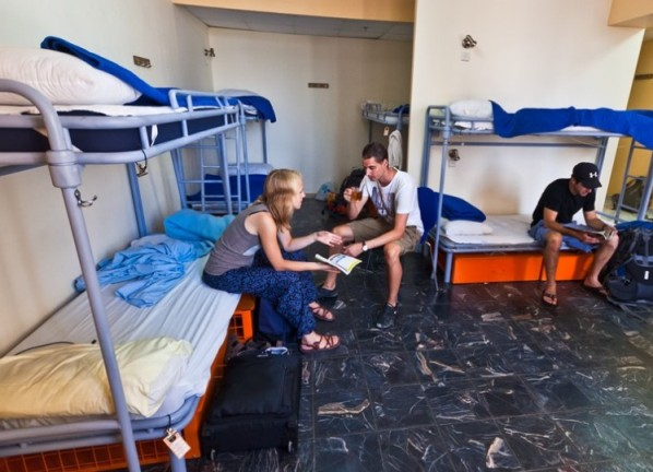 dorm room at the Abraham Hostel in Jerusalem