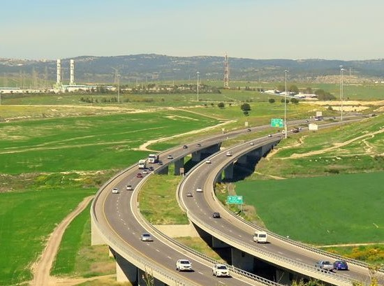 Highway No. 6 in Israel