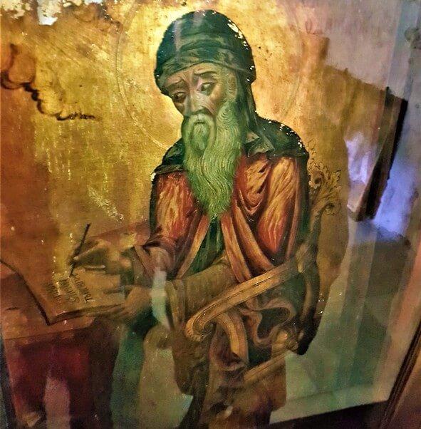 fresco in Monastery of the Cross in Jerusalem