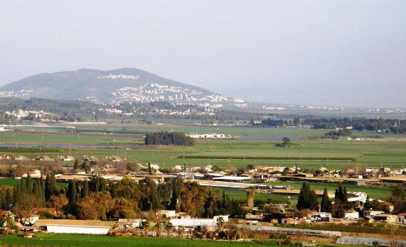 Gilboa mountain range and Jezereel Valley (Emek Yisrael)