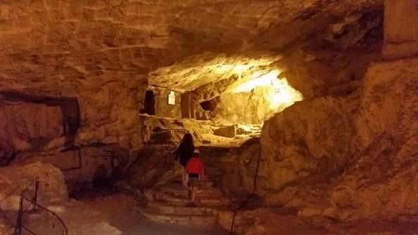 cave where Jesus taught the Lord's Prayer in the Pater Noster Church on Mount Olives in Jerusalem
