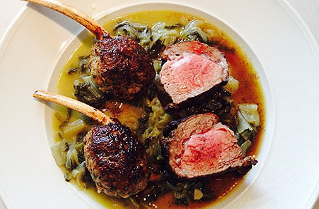 yonatan roshfeld's instagram photo of slow cooked lamb chops at Herbert Samuel kosher restaurant in Herzliya