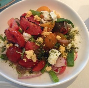 Herbert Samuel restaurant and the signature Roshfeld tomato salad