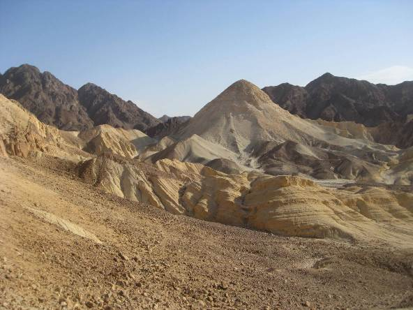Mountains near Eilat in the Negev desert in the south of israel