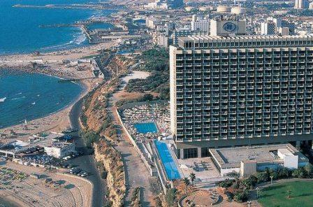 hilton tel aviv hotel on a cliff overlooking the sea -amazing view