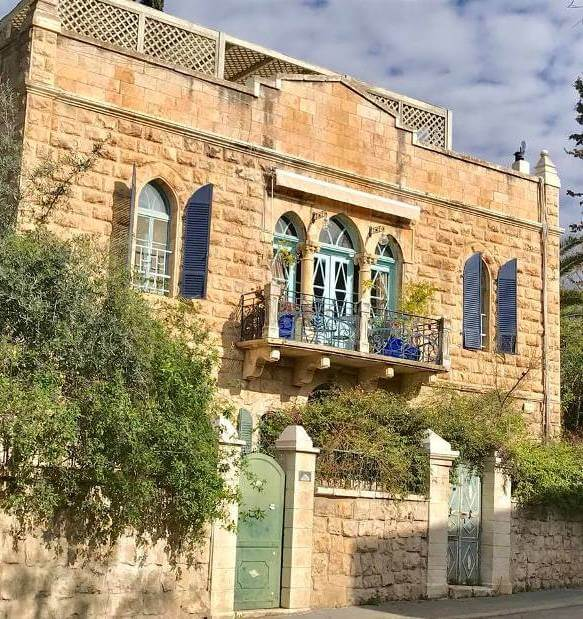 a historic building in the charming Germany Colony neighborhood in Jerusalem