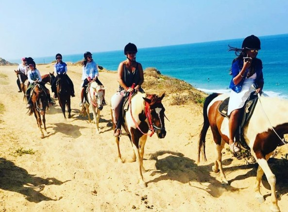 horseback riding in Israel along one of the many Mediterranean beaches