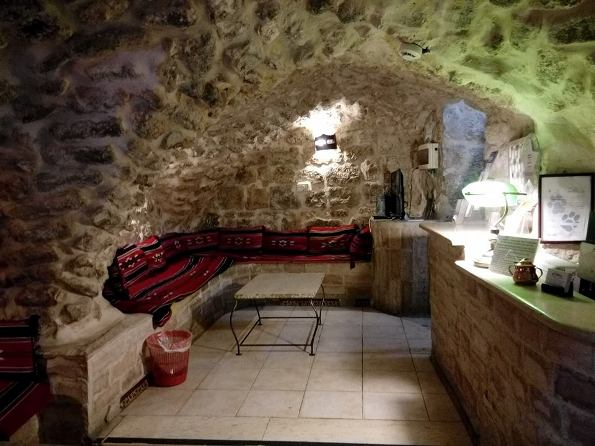 reception at the Citadel Youth Hostel in the Old City Jerusalem