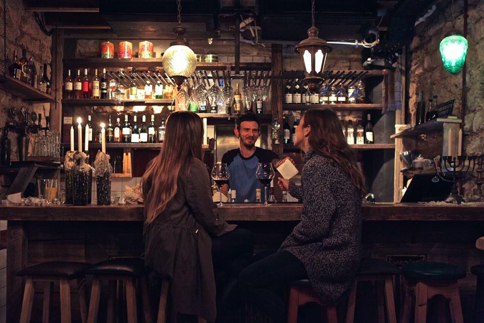 house of Katerina bar at Sarona in Tel Aviv
