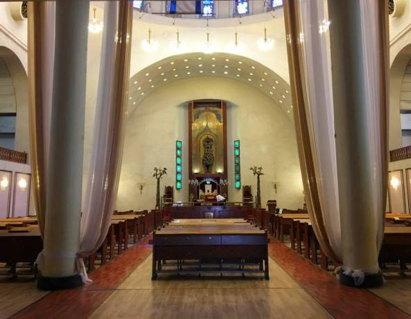Beautiful interior of the Great Synagogue of Tel Aviv on Allenby Street