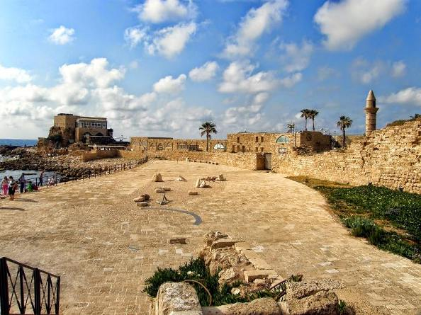 the National Park of Caesarea Israel near the Sea